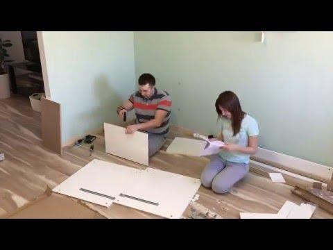 Сборка письменного стола IKEA MALM за 3 минуты :)