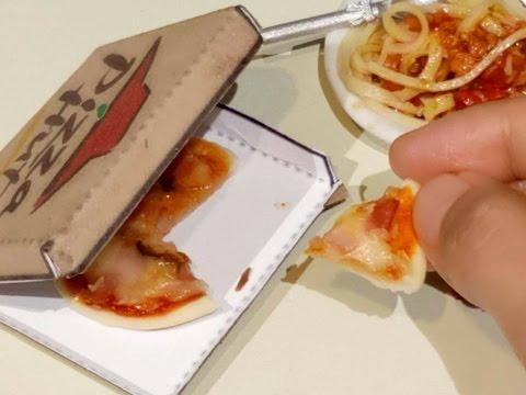 Mini Food: Ham & Cheese Pizza Hut (DIY) (Miniature Cooking Sound) ( tiny food) (ASMR) (Kids toys)