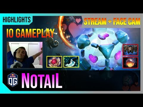 N0taiL - IO Gameplay   COMBO with TINY   STREAM FACE CAM with Commentary   Highlights Dota 2 Pro MMR