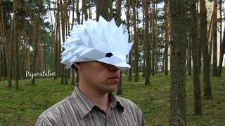DIY Hedgehog paper mask papercraft