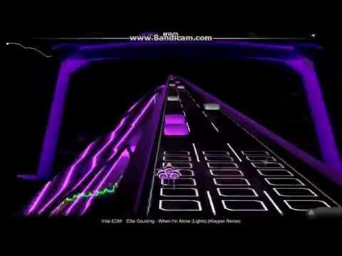 Ellie Goulding- When I'm Alone(Lights)(Klaypex Remix)- Audiosurf