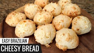 Brazilian CHEESY BREAD Recipe - aka Pão De Queijo - Easy Cheese Bread