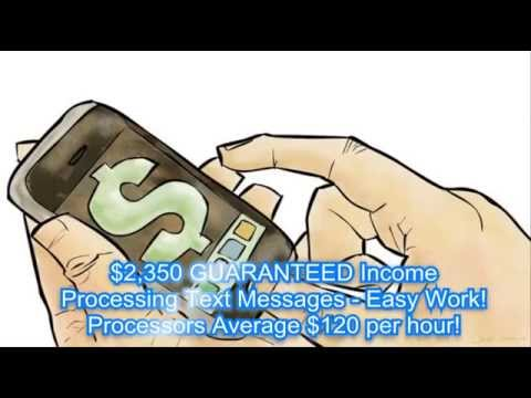 Get Paid To Process Text Messages