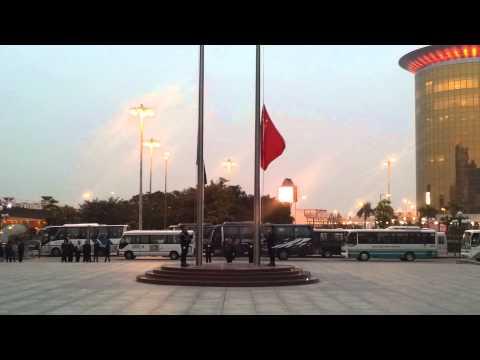 Flag lowering ceremony in Macau