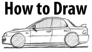 How to draw a Subaru Impreza WRX (GC8) - Sketch it quick!