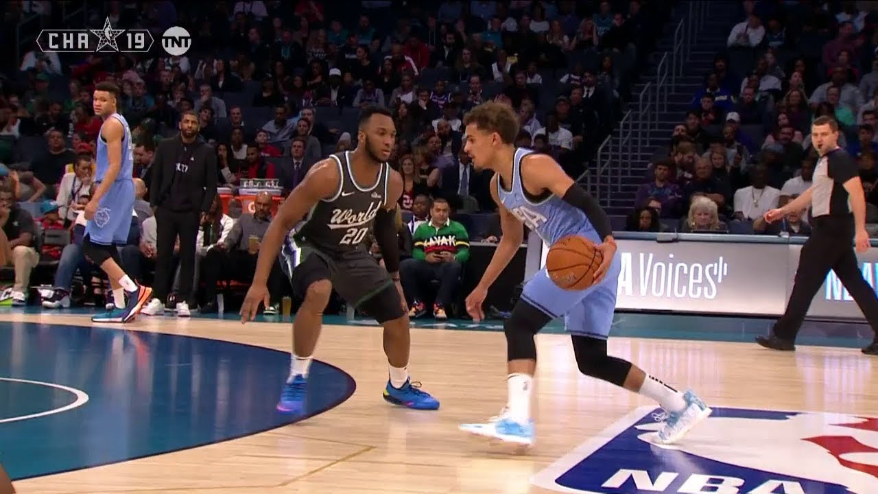 0a73828869e Trae Young WILD Crossover Through The Josh Okogie's Legs | 2019 NBA All-Star  Rising Stars