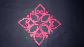Paper Cutting for Decoration-How to make paper flower design cutting for decoration step by step