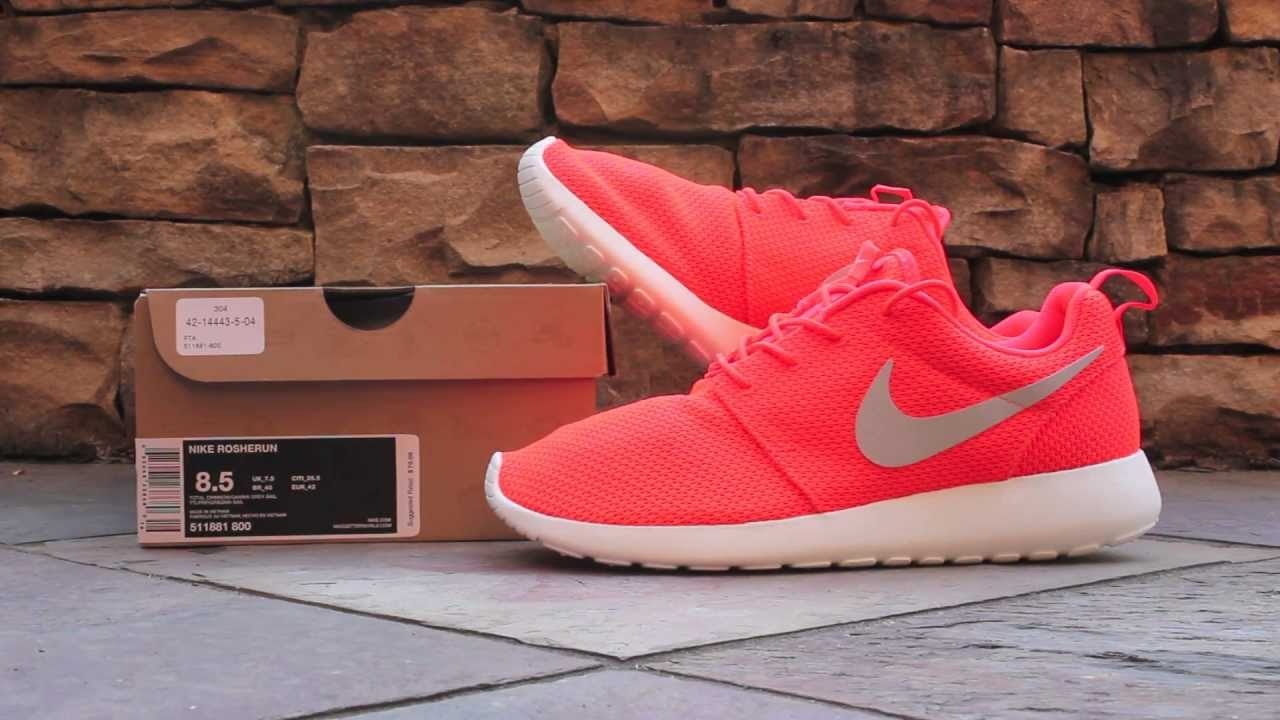 Quick Look Nike Roshe Run Total Crimson Youtube
