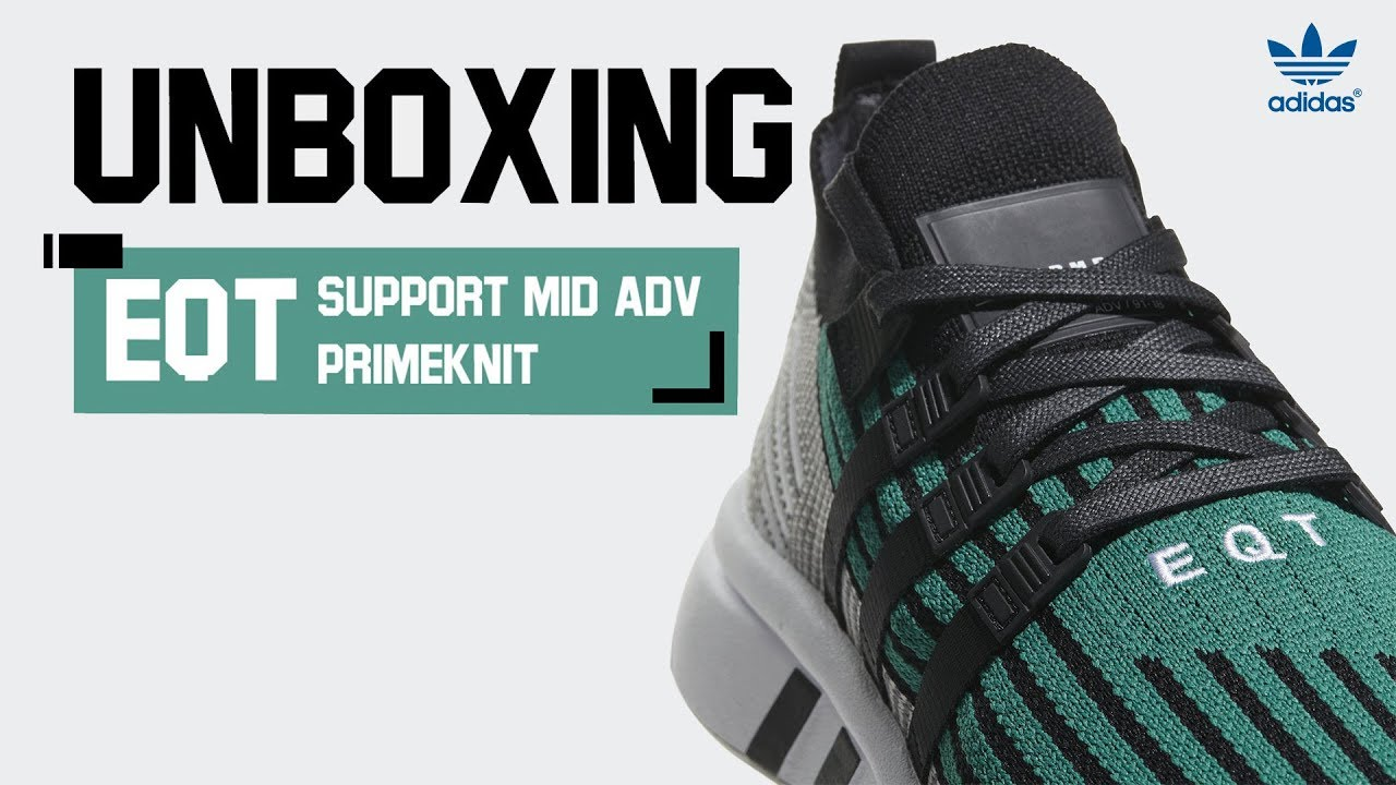 size 40 f1a50 3e2ed UNBOXING EQT SUPPORT MID ADV PRIMEKNIT SHOES