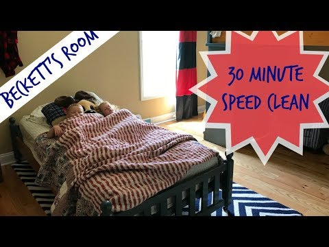 Saturday Speed Clean | Power Half an Hour | Zone Cleaning My Son's Room