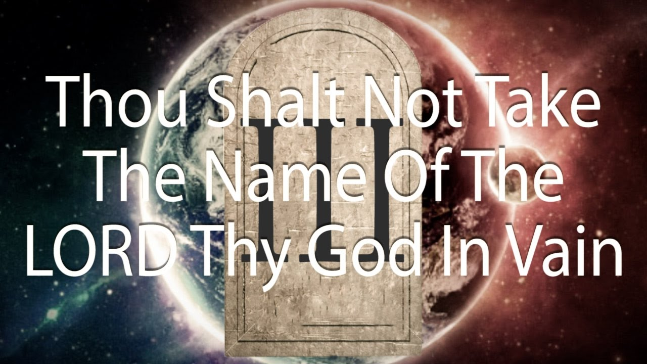 Image result for take the name lord god in vain