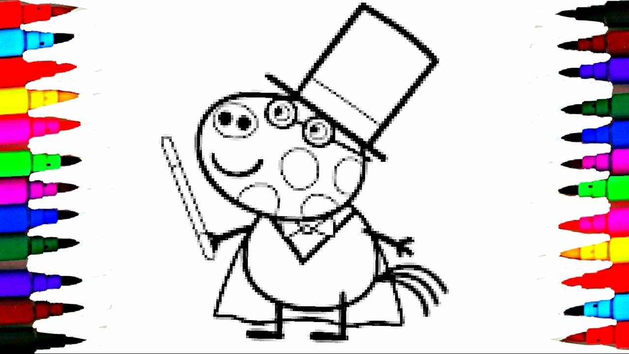 Coloring Pages Peppa Pig Pedro Pony The Magician Coloring