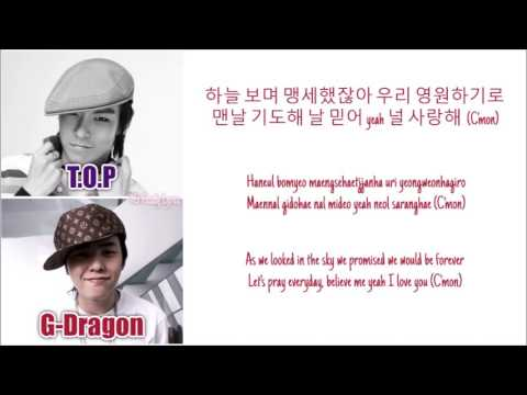 BIGBANG (GD&TOP) - We Belong Together (feat. Park Bom) [Color Coded Lyrics: Han/Rom/Eng]