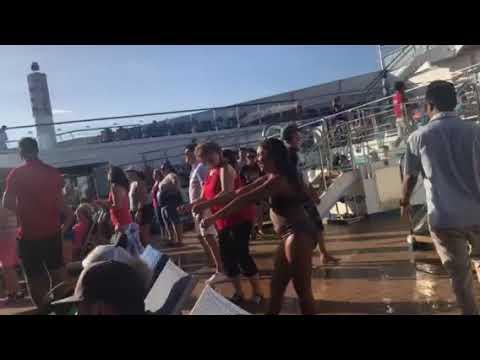 Carnival Sunshine Lido Deck fun