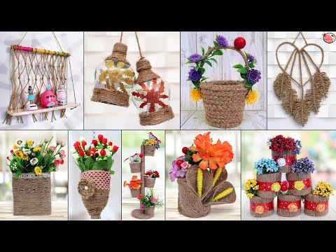 10 Most Beautiful Jute Craft Idea !!! Best Out of Waste