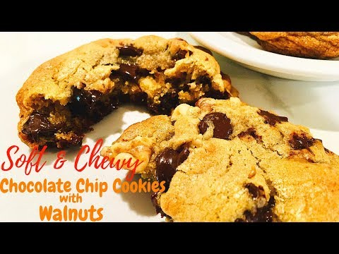 🍪Soft & Chewy Chocolate Chip Cookies With Walnuts  | ThymeWithApril