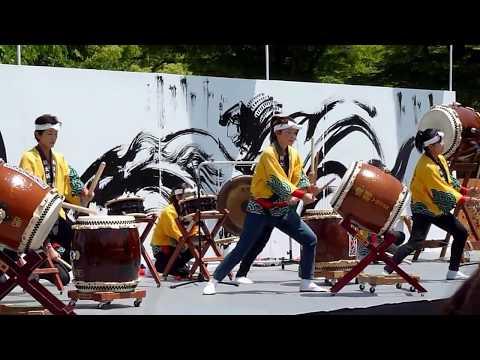 Osaka: dimostrazione di wadaiko 和太鼓