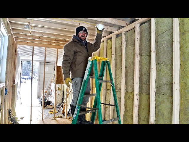This Will CHANGE EVERYTHING!!! Rough Wiring the Lights in Our Off-Grid SHIPPING CONTAINER Cabin