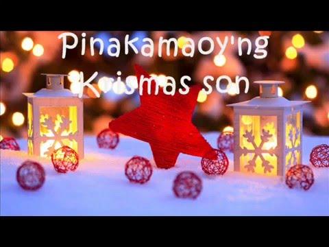 Kurt Fick & Jacqueline Chang - Pinakamaoy'ng Krismas Song (lyric video)