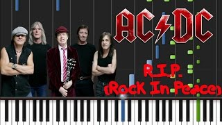 AC/DC - R.I.P. (Rock In Peace) Synthesia Tutorial