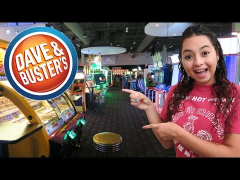 Having a blast at Dave & Buster's arcade!!
