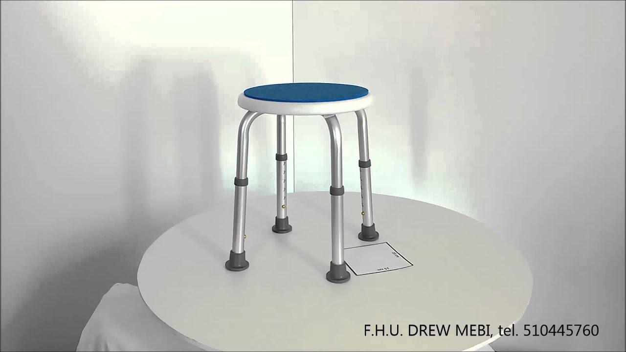 Stoleczek Pod Prysznic Blue Okragly Taboret Prysznicowy Youtube