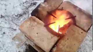 Как сделать печь-ракету из 21кирпича своими руками