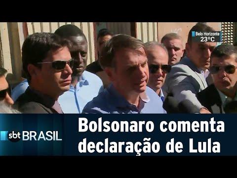 Bolsonaro crítica declaração de ex-presidente Lula e rebate | SBT Brasil (27/04/19)