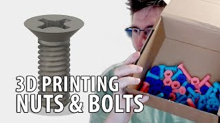 3D Printing Nuts & Bolts & Screws using Fusion 360 and McMaster-Carr