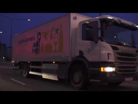 Night rider speeds through Stockholm