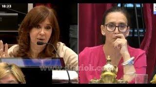 En el Senado, Cristina le habló a Michetti y le explicó cuestiones del reglamento