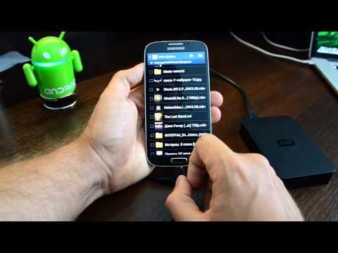 USB OTG - подключаем жесткий к Samsung Galaxy S4