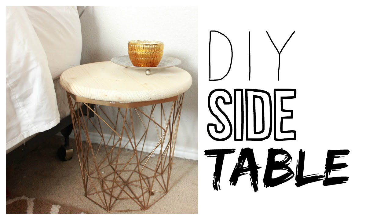 diy side table how to make a night stand youtube. Black Bedroom Furniture Sets. Home Design Ideas