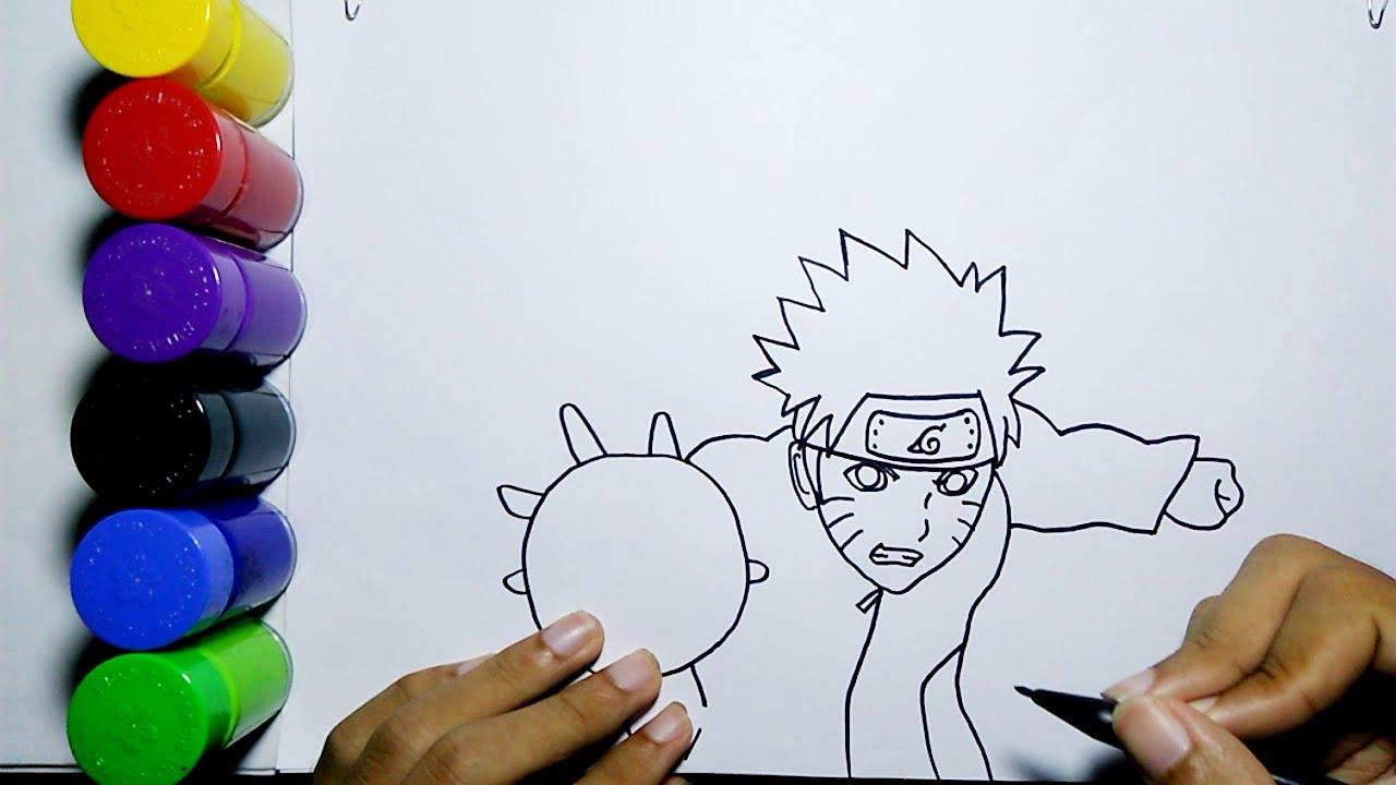 Cara Menggambar Anime Naruto Dengan Rasengan Mudah How To Draw Naruto With Rasengan Easy Youtube