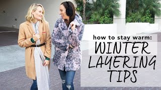 HOW TO STAY WARM I Winter Layering Tips