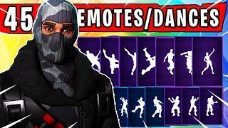 "Fortnite ""HAVOC"" SKIN Showcased with 45 Dances/Emotes | Fortnite Season 4"