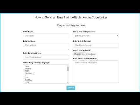 Codeigniter Send Email With Attachment