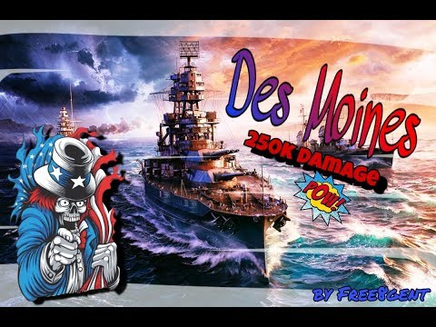 World of Warships [deutsch] –  Des Moines | Kreuzer ausser Rand und Band