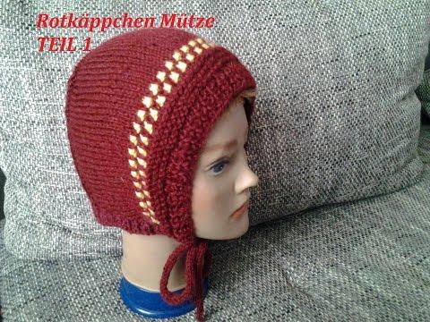 DIY Kindermütze stricken*Teil 1**Baby Mütze*einfach Stricken*Rotkäppchen Mütze Tutorial Handarbeit