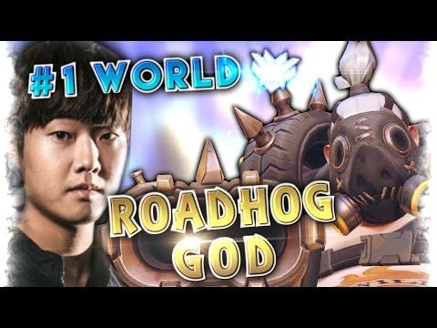 Highest Rank Player EVERMORE [5000SR] Roadhog God (91% Win rate) Moments Montage | Overwatch Gods