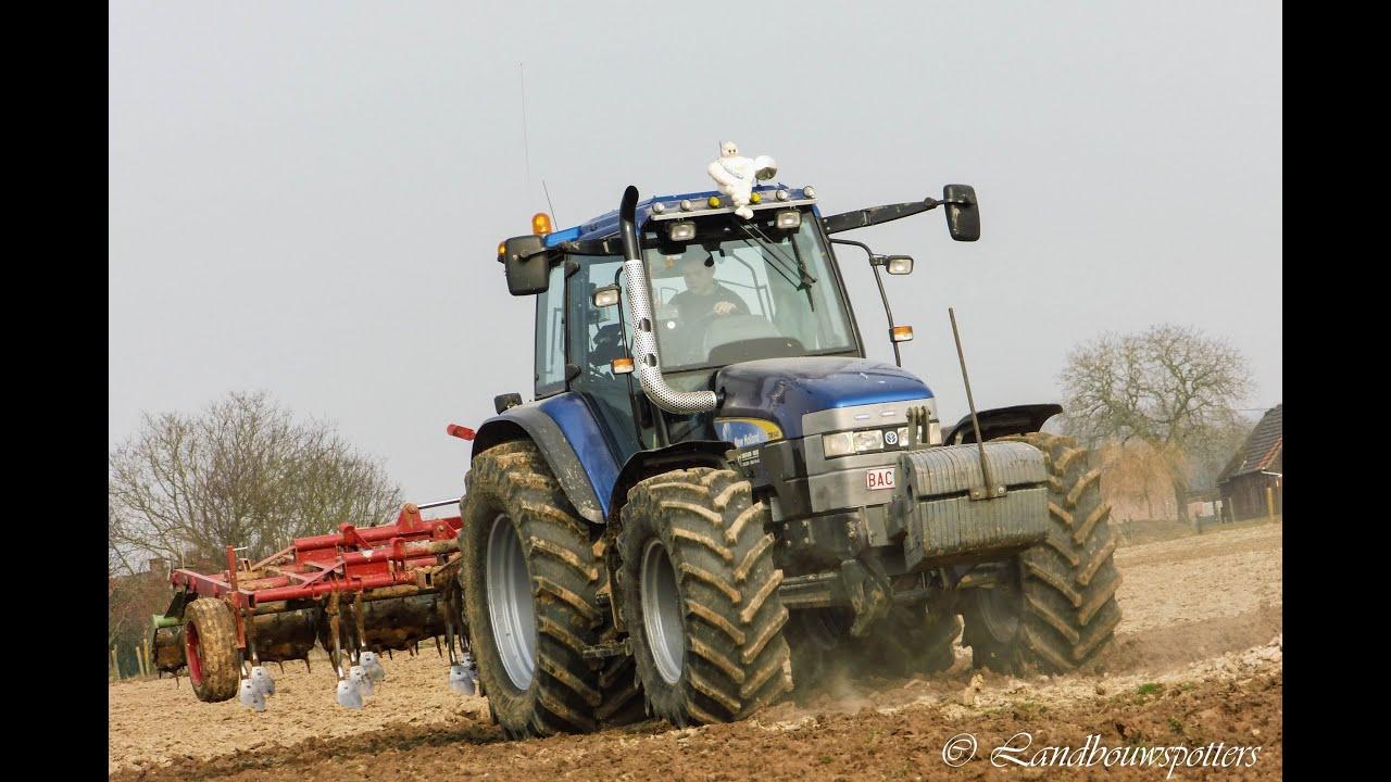 New Holland Tm 140 Cultiveren 2013 Landbouwer Depreester