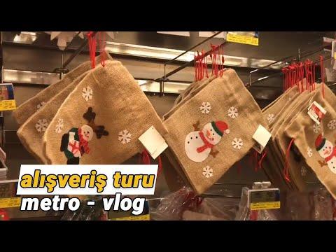 Yılbaşı Alışverişi   METRO Mağaza Turu 2018   Ev Ve Oda Dekorasyonu   Yılbaşı Dekorasyon Hazırlık