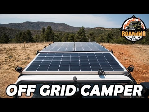 Defender Off Grid Camper Solar Panel Installation - Long Term Touring