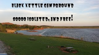 Black Kettle Campground Oklahoma.  Gorgeous area to camp at.