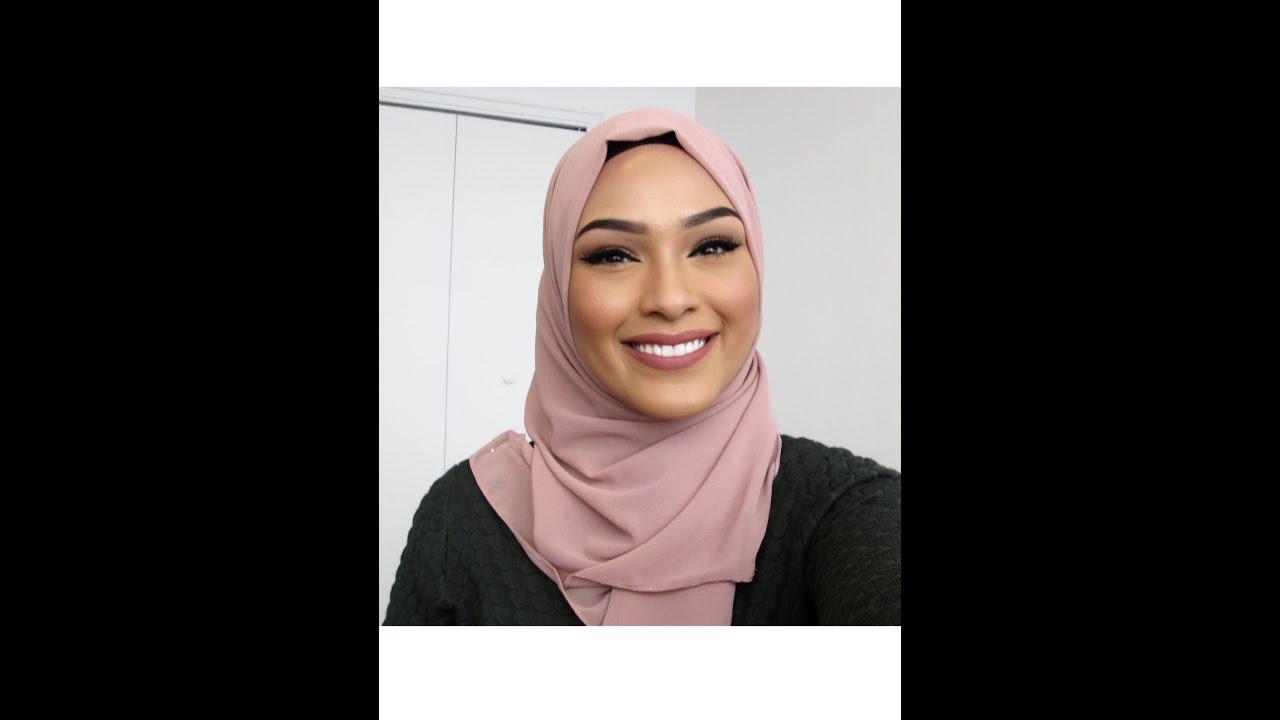 Hijab Tutorial: Classic Style Work Friendly - YouTube