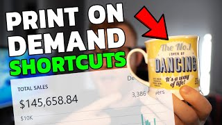 3 THINGS I WISH I KNEW ABOUT PRINT ON DEMAND WHEN STARTING! P.O.D SHORTCUTS