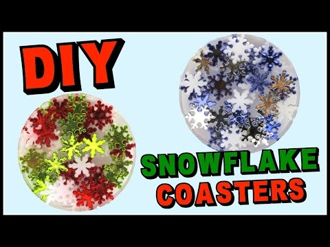 Snowflake Resin Coasters DIY ~ Another Coaster Friday Craft Klatch