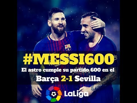 Messi: 600 partidos con el FC Barcelona