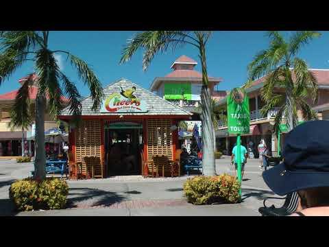 walking through Port Zante, Basseterre, St. Kitts, Saint Kitts and Nevis