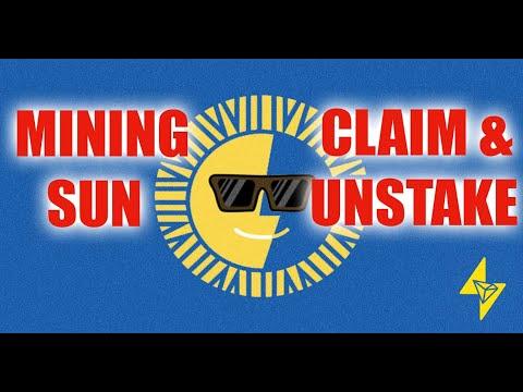 MINING SUN TOKEN - CLAIM & UNSTAKE